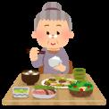 syokuji_obaasan